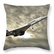 Air France Concorde 115 Throw Pillow
