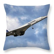 Air France Concorde 118 Throw Pillow