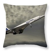 Air France Concorde 116 Throw Pillow