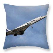 Air France Concorde 117 Throw Pillow