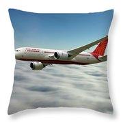 Air India Boeing 787 Dreamliner N1008s  Throw Pillow