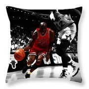 Air Jordan On Shaq Throw Pillow