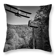 Air Mail Delivery Maine Style Throw Pillow