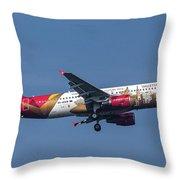 Air Malta Airbus A320-214 Throw Pillow