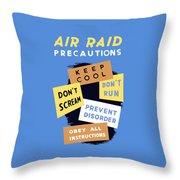 Air Raid Precautions - Ww2 Throw Pillow