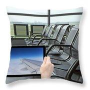 Air Travel Concept Throw Pillow