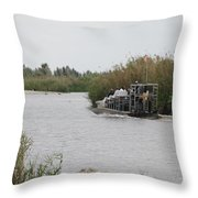 Airboat Rides 25 Cents Throw Pillow
