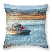 Airboat Rides Throw Pillow