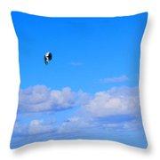 Airborne Kitesurfer  Throw Pillow