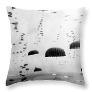 Airborne Mission During Ww2  Throw Pillow