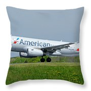 Airbus A319 Throw Pillow