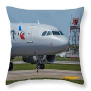 Airbus A319  On Taxi Throw Pillow
