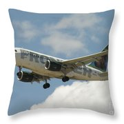 Airbus A320 Denver International Airport Throw Pillow