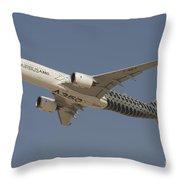 Airbus A350 At Dubai Air Show, Uae Throw Pillow
