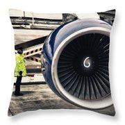 Airbus Engine Throw Pillow by Stelios Kleanthous