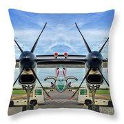 Aircraft Abstract Throw Pillow
