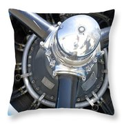 Aircraft Engine Throw Pillow