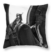Aircraft Machine Gun Wwii Throw Pillow