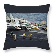 Aircraft Planes F18 Cat Throw Pillow