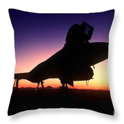 Aircraft Silhouette Throw Pillow