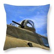 Aircraft Top Machine Gun Throw Pillow