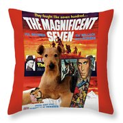Airedale Terrier Art Canvas Print - The Magnificent Seven Movie Poster Throw Pillow