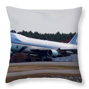 Airforce One Throw Pillow