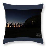 Airmen Boarding Throw Pillow