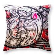 Airplane Grafitti Throw Pillow