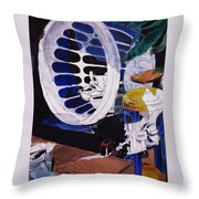 Airplane In A Laundry Basket Throw Pillow