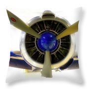 Airplane Propeller And Engine T28 Trojan 01 Throw Pillow
