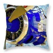 Airplane Propeller And Engine T28 Trojan 02 Throw Pillow