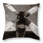 Dakota Airplane Propeller  Throw Pillow