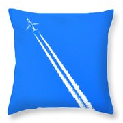 Airplane Thousands Of Feet In The Air Throw Pillow