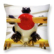 Airplane Wooden Propeller And Engine Pt 22 Recruit 02 Throw Pillow