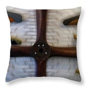 Airplane Wooden Propellers 01 Throw Pillow