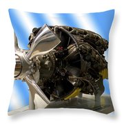 Airplanes Prop And Engine Throw Pillow