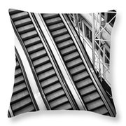 Airport Architecture Escalator Movement Throw Pillow