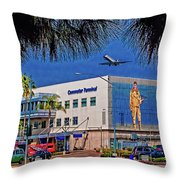 Airport Throw Pillow