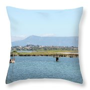 airport on Corfu island Greece Throw Pillow