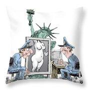 Airport Security And Liberty Throw Pillow