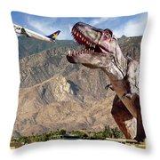 Airport Snack Bar Plane Food Throw Pillow