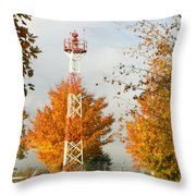 Airport Tower Throw Pillow