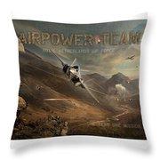 Airpower Team Throw Pillow