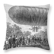 Airship Ascent, 1883 Throw Pillow