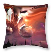 Airship Commander... Throw Pillow