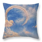 Airshow At The Lou Throw Pillow by Susan Rissi Tregoning