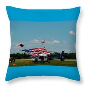 Airshow Opening Throw Pillow