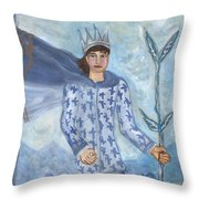 Airy King Of Wands Throw Pillow