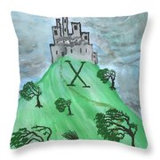 Airy Ten Of Wands Illustrated Throw Pillow